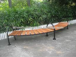 astonishing curved outdoor bench of backless garden for around fire pit or tree