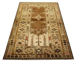 this soft color vintage milas woven rug rests beautifully upon a field of pale lime green
