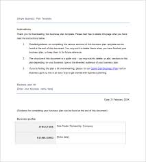 simple business model template simple business plan template 20 free sample example format