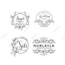 Floral Logo Design Free Download Feminine Floral Wedding Logo Collection Free Logo Design