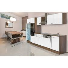 Respekta Küchenzeile KB340EYWMIGKE 340 cm Weiß Eiche York