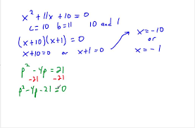 8th grade 9 4 factoring to solve quadratic equations mp4