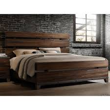 modern rustic brown king size bed forge