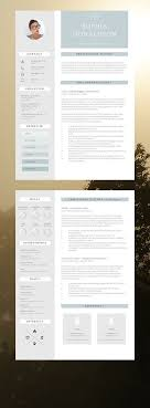 Resume Template And Free Cover Letter 3 Page Modern Cv Template