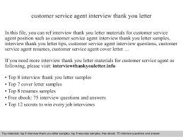 Thank You Letter For Customer Service Customer Service Agent