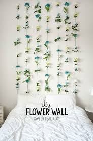 bedroom wall ideas pinterest. Wonderful Ideas DIY Flower Wall Headboard Tutorial Diy Headboard Cheapheadboardu2026 And Bedroom Ideas Pinterest A