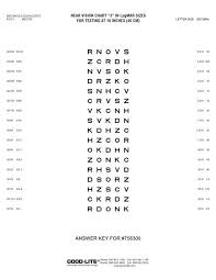 75630 Near Vision Chart Answer Key Pdf Good Lite Company