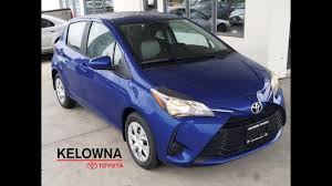 2018 Toyota Yaris LE Metallic Blue - YouTube
