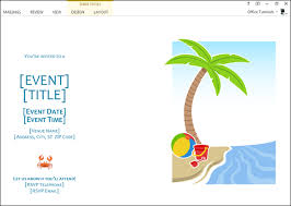 How To Create A Party Invitation How To Make Summer Party Invitations In Word