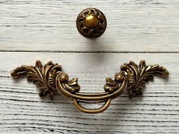 Brass pull door handles Decorative Brass Image Door Knobs 25 Dresser Pulls Drawer Pull Handles Gold Brass Antique Etsy