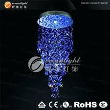 authentic blue crystal chandeliers b9167470 round erflies decoration blue crystal ceiling lights room