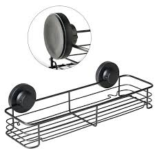 shower caddy with suction cups gecko black suction cup storage basket shelf shower shower caddy suction
