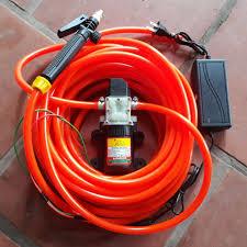 Máy rửa xe mini CỰC MẠNH 6m dây-máy bơm nước mini 12v - rửa xe đa