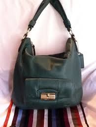 RARE Coach DARK GREEN Kristin Leather Hobo  14783 JUST IN TIME FOR FALL!