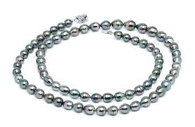 8 x 10mm peacock baroque tahitian pearl necklace 32 inches american pearl