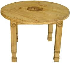 large round julio star mexican rustic pine dining table