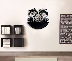 Amazon.com: Cute Cats Love Vinyl Record Wall Clock - Decorate your home  with Modern Art - Gift for kids, girls and boys - Win a prize for a  feedback: Home & ...