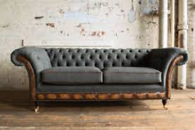 modern chesterfield sofa.  Chesterfield Image Is Loading MODERNGREYWOOLampANTIQUETANLEATHER3 Inside Modern Chesterfield Sofa E
