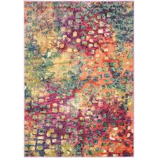 safavieh monaco pink multi 4 ft x 6 ft area rug