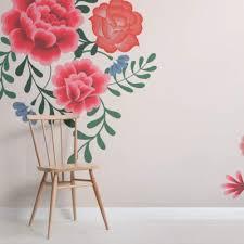 Wallpaper flower Pink Flower Cream Frida Kahlo Floral Wallpaper Mural Murals Wallpaper Floral Wallpaper Murals Wallpaper