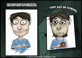 the appearance of a student on the first day of class and on the the appearance of a student on the first day of class and on the last day