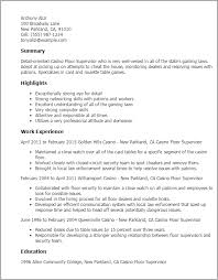 Casino Resume Template