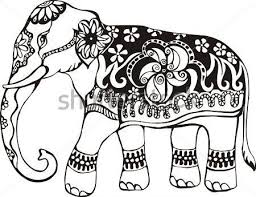 Small Picture Asian Elephant clipart coloring page Pencil and in color asian