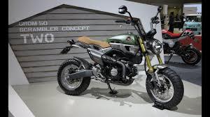 honda grom 50 scrambler concept two 2016 tokyo motor show