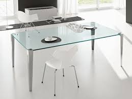 Italian Glass Dining Table Nella Vetrina Tonelli Stratos Mono Modern Italian Transparent