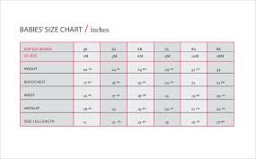 Sample Baby Size Chart 7 Documents In Word Pdf