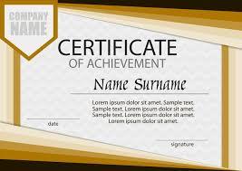 Sample Certificate Award Certificate Of Achievement Template Horizontal Winning The