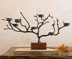 ... connect the candle holder with metal wire to the branches of the tree  !! all