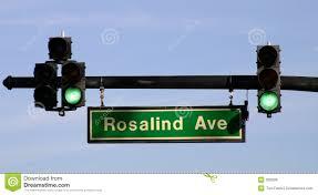 Blue Traffic Light In Florida Traffic Light On Rosalind Ave Flbusiness00040a Stock Photo