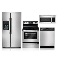 Black Kitchen Appliance Package Frigidaire Ffhs2622ms Ffef3048ls Ffbd2406ns Ffmv164ls Appliances