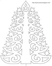 Paper Christmas Tree With Printable Template Iris Folding