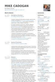 Physician Resume Template Classy Physician Resume Samples VisualCV Resume Samples Database Resume