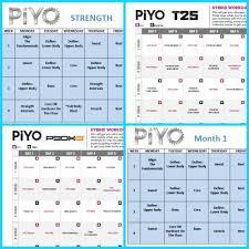 piyo workout schedule zillafitness