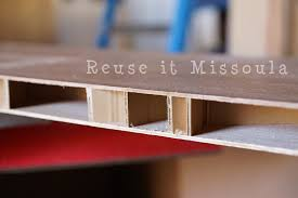 repurpose old hollow core doors into usable and pretty shelves see the easy to