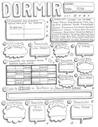 Dormir Spanish Worksheets Teaching Resources Tpt