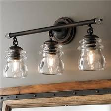 bathroom lighting fixtures. Something Like This Above Sink In Mudroom? Insulator Glass 3-Light Bath Light Bathroom Lighting Fixtures I