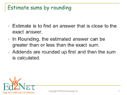 Estimation (Rounding and Compatible Numbers) - ppt video online ...