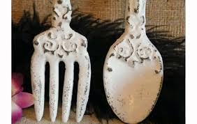 Large Fork And Spoon Wall Decor Placed Giant Spoon And Fork Wall Decor Ranikhet Dining Accessories