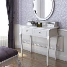 modern bedroom makeup vanity. modern small white makeup vanity table with drawers on laminate wooden floor bedroom. bedroom