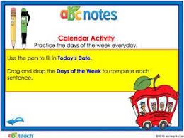Number Of The Week Flip Chart Days Of The Week Daily Calendar Promethean Flipchart
