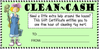 house cleaning cash gift certificate customize template be someone is very busy sick post surgery and just needs a little help around the house i made this little gift certificate