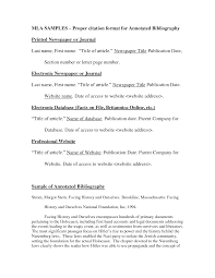 Best Photos Of Correct Mla Format Annotated Bibliography Annotated