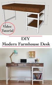 DIY Modern Farmhouse Desk (Plans and video