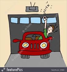 Broken Garage Door Opener Illustration