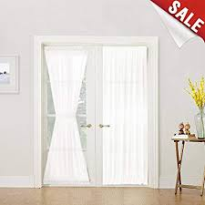 french doors curtains. Unique French French Door Curtain Panel Linen Look Panels 72 Inch White Sheer  Curtains For With Doors I