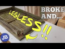 how to fix a broken table leg the